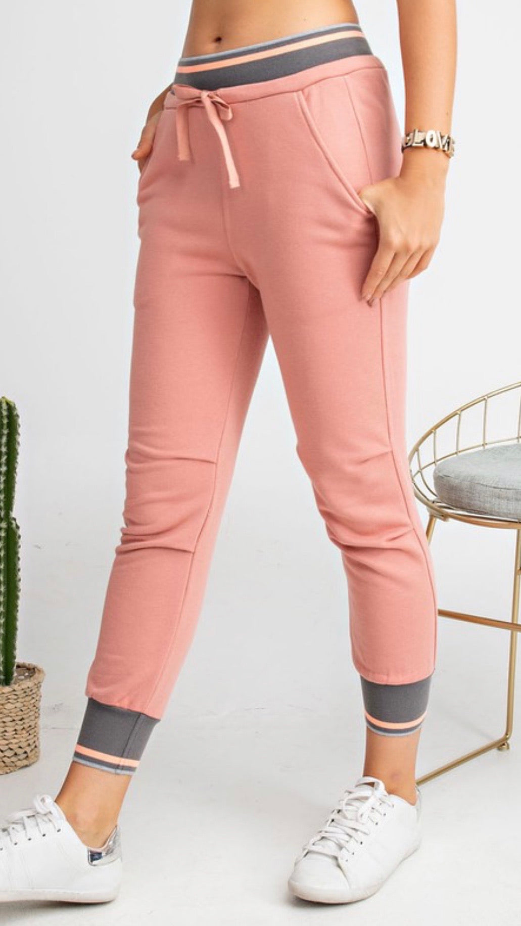 Terry Knit Jogger Pants | Cheeky Cactus