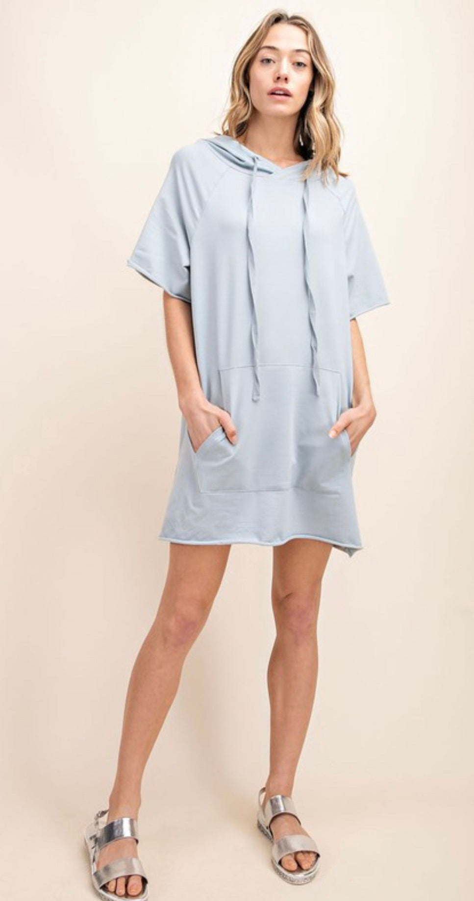 Sky Blue Hoodie dress | Cheeky Cactus