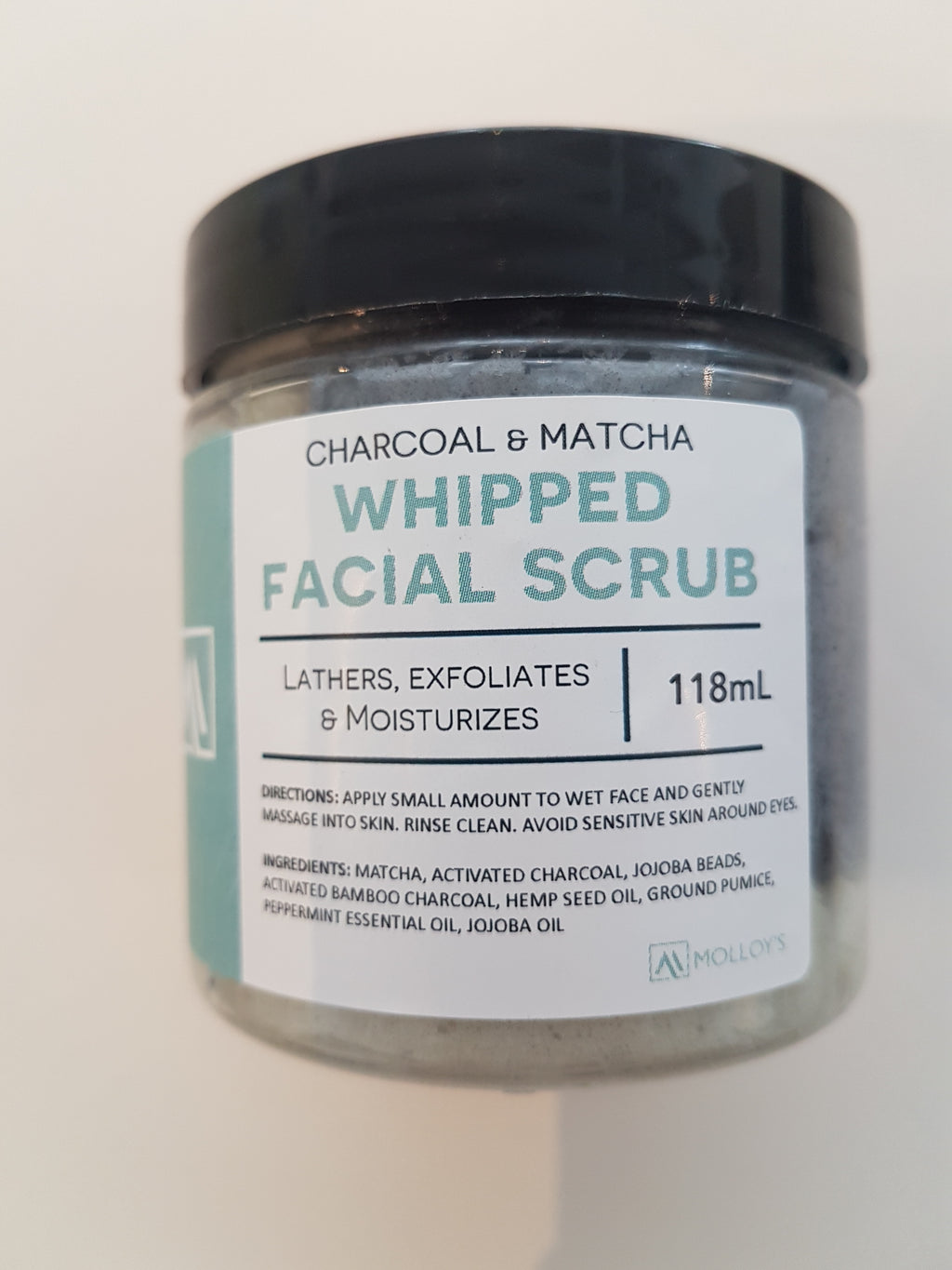 Whipped Facial Scrub: Charcoal and Matcha
