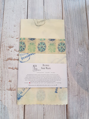 Beeswax Wraps: Set of 3