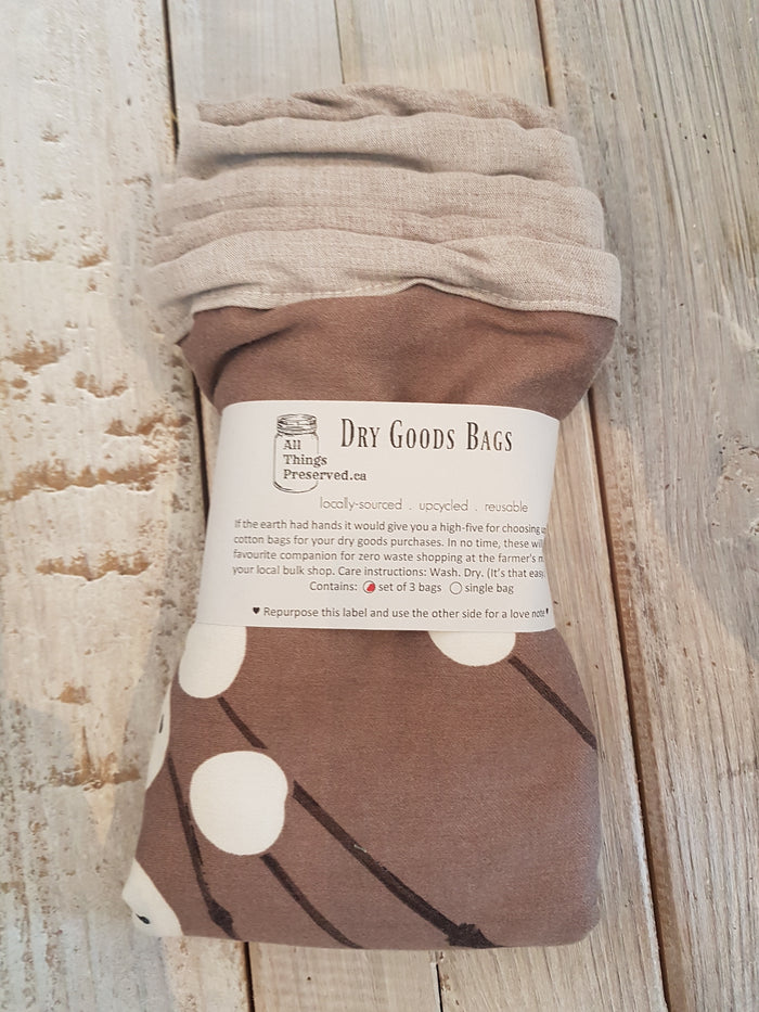 Dry Goods Bags: Set of 3
