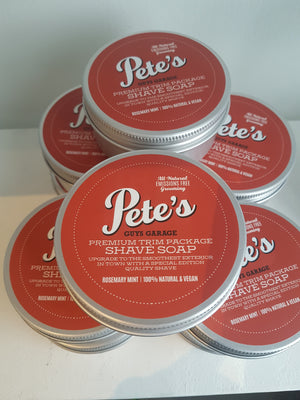 Pete's Premium Trim Package Shave Soap
