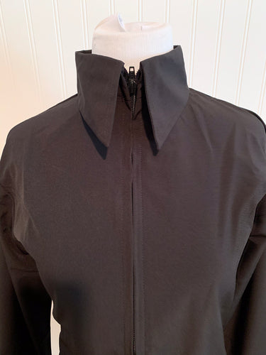 Microfiber Zip-Up Show Shirt (68248)-Black
