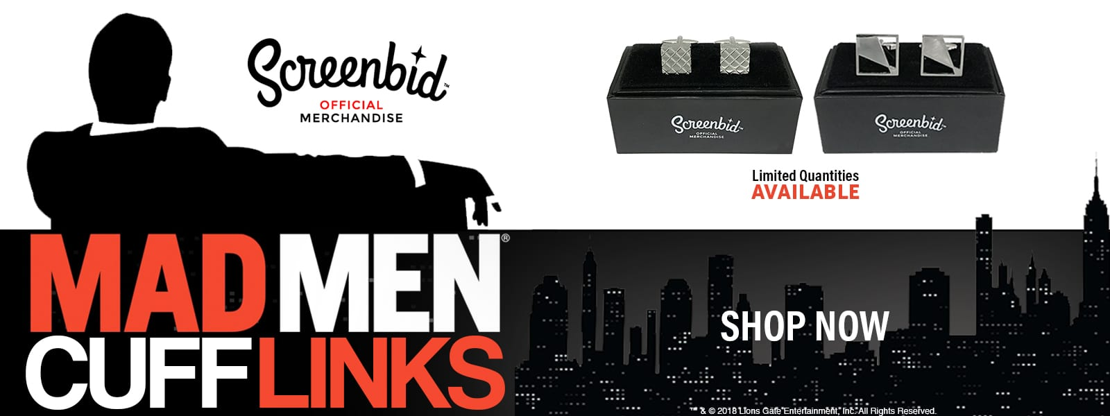 MAD MEN CUFFLINKS