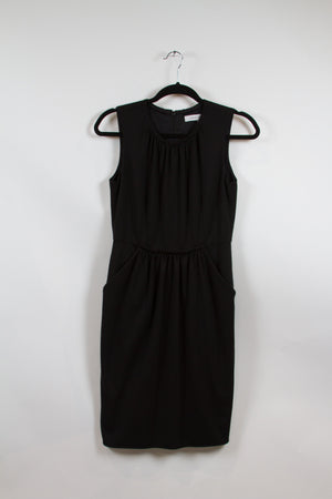 Screenbid Media Company, LLC. - Carmen Marc Valvo Black Tank Dress with Pockets Size 4
