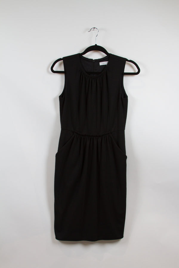 Carmen Marc Valvo Black Tank Dress with Pockets Size 4-1