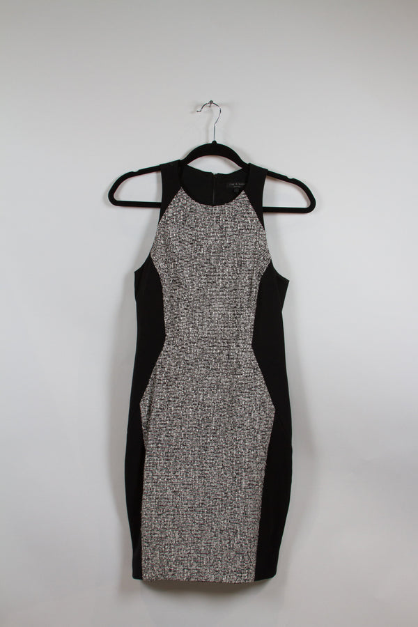 Rag & Bone Black and White Textured Bodycon Dress Size 2-1