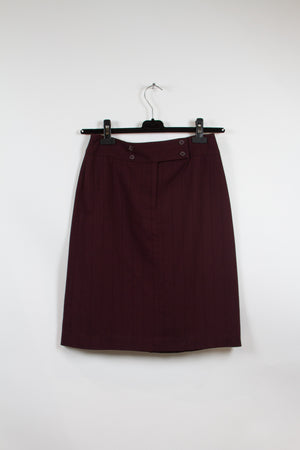 Screenbid Media Company, LLC. - Apostrophe Burgundy Pencil Skirt Size 6