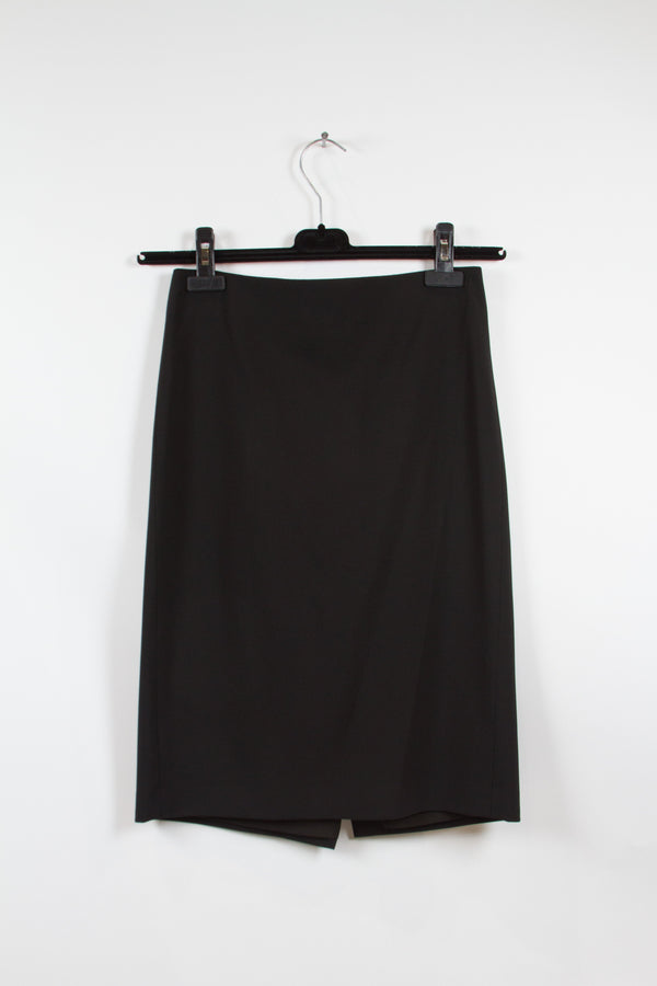 Theory Black Pencil Skirt Size 4-1