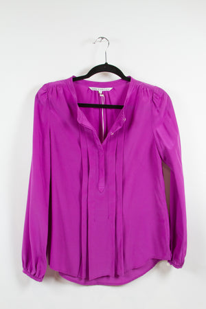Screenbid Media Company, LLC. - Annie Griffin Fuchsia Button-Up Blouse XS