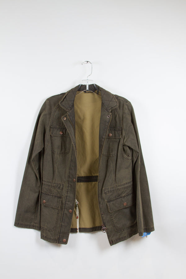 SONS OF ANARCHY: Gemma's Barbour Olive Military Style Jacket-1