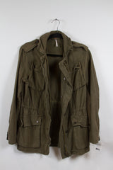 SONS OF ANARCHY: Gemma's Moss Military Style Jacket S