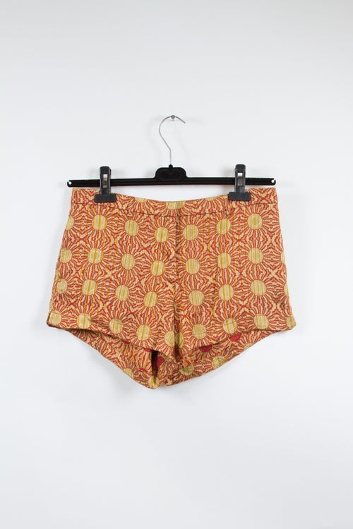 Screenbid Media Company, LLC. - Dries Van Noten Sun Patterened Embroidered Shorts Size 40