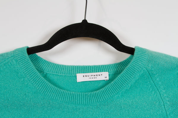Equipment Femme Turquoise Sweater XS-2