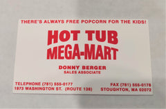 That's My Boy: Donny Berger Business Card