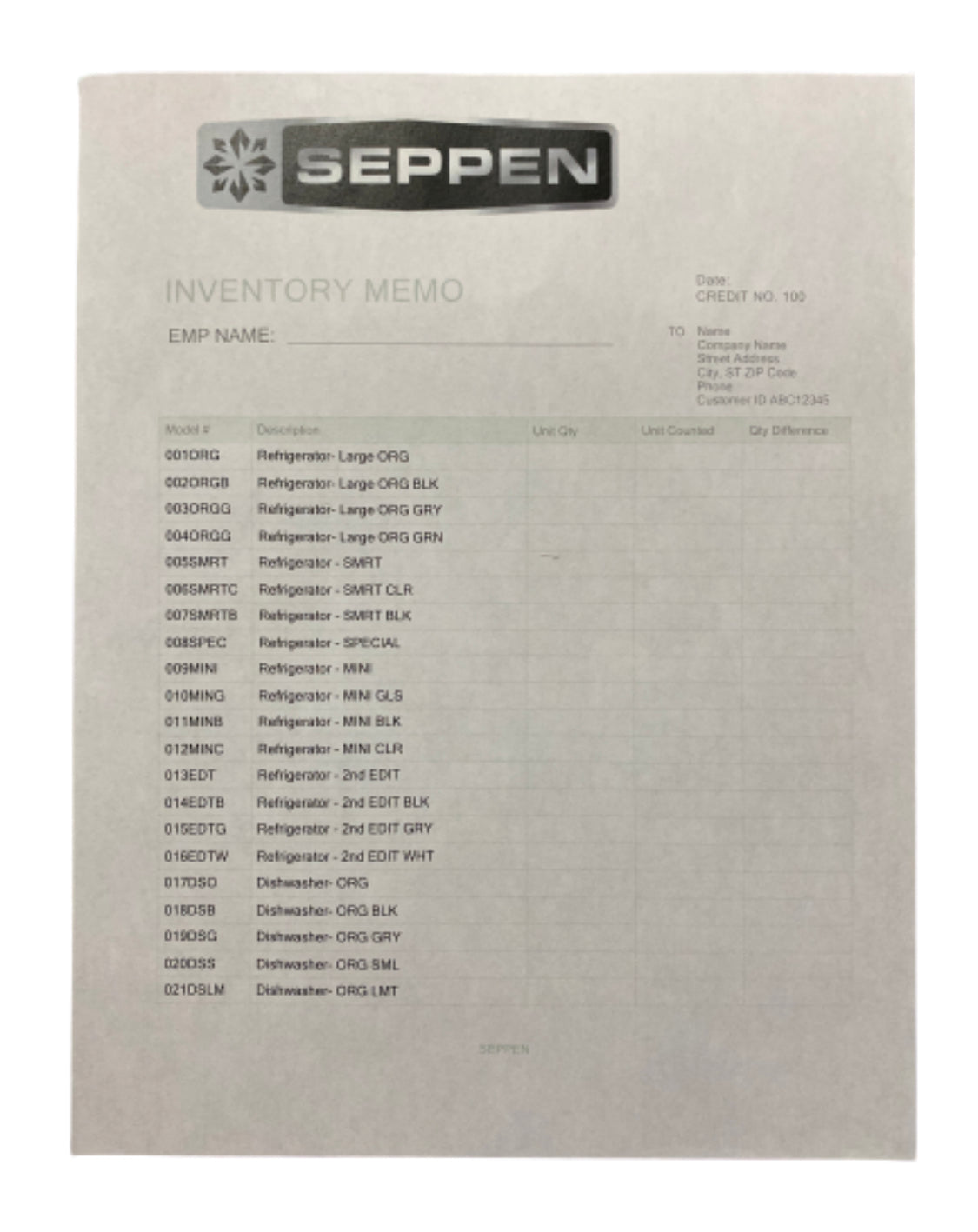 SILICON VALLEY: Seppen Inventory List