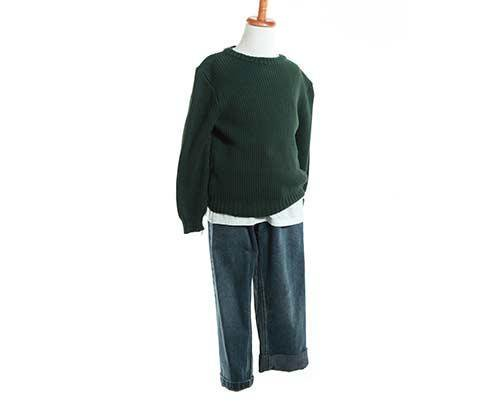 Young Jamal's Green Sweater & Jeans Outfit-1