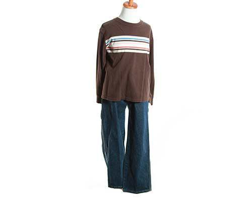 Young Jamal's Brown Long Sleeve & Jeans Outfit-1
