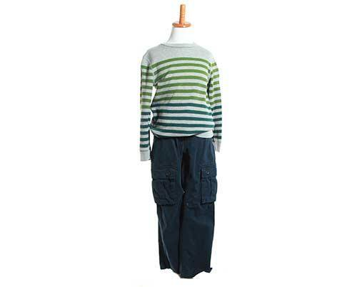 Screenbid Media Company, LLC. - Young Jamal's Green Striped Sweater & Jeans Outfit