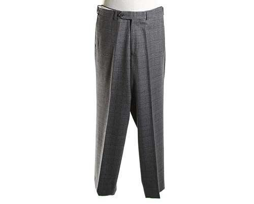 EMPIRE: Andre's Grey & Brown Plaid Pants-1