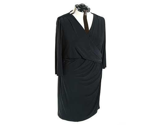 Screenbid Media Company, LLC. - Becky's Black Wrap Dress