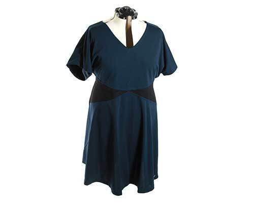 Becky's Petroleum Blue & Black Dress-1