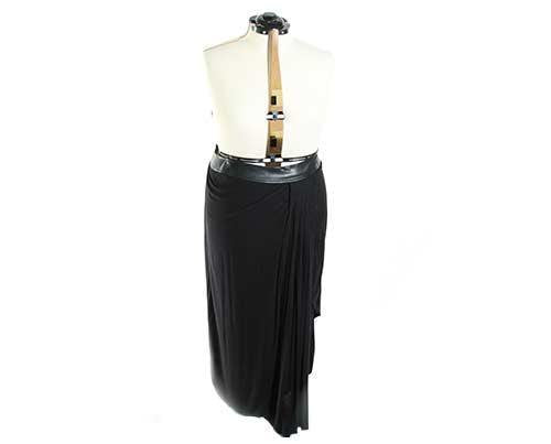 EMPIRE: Becky's Black Asymmetrical Skirt-1