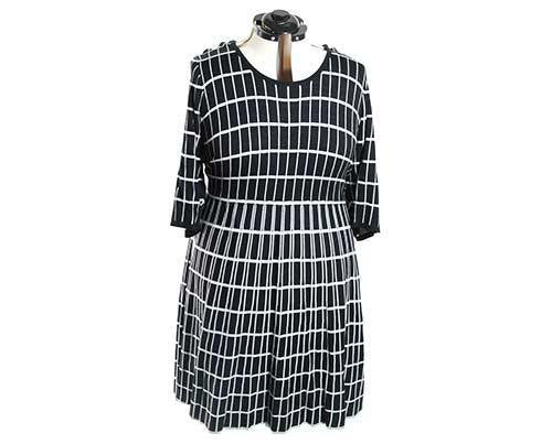 EMPIRE: Becky's Black and White Windowpane Dress-1
