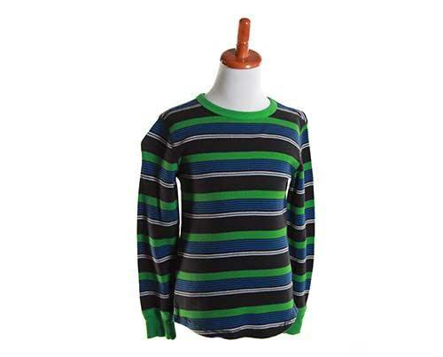 Little Boy's Striped Green Long Sleeve-1
