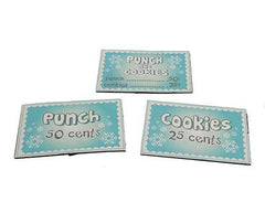 Bucky Larson's Punch, Cookies, Punch & Cookies Signage