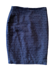 SILICON VALLEY: Monica's Navy Knitted Ann Taylor Pencil Skirt