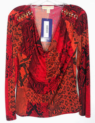 EMPIRE: Cookie's Red/Orange Michael Kors Blouse (Sz S)