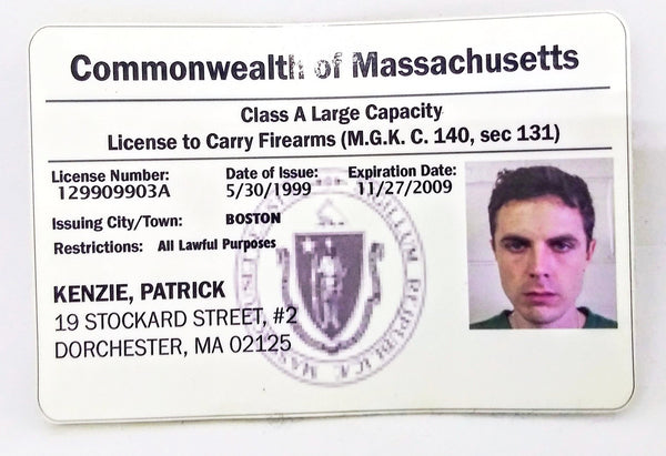 Gone Baby Gone: Patrick Kenzie's Firearms License-1
