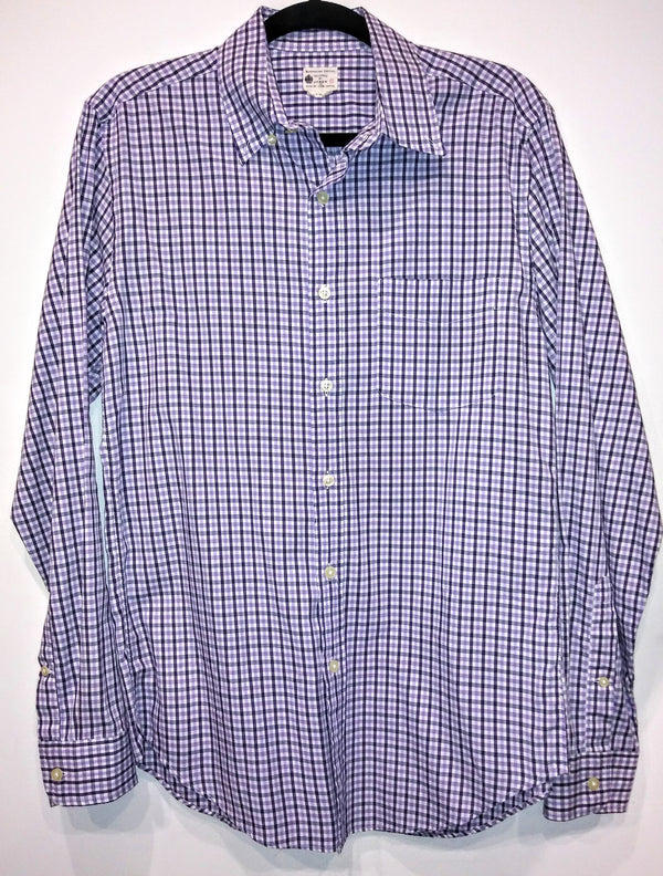 Dr. Ken Black & Purple Check J.Crew Shirt (Sz S)-1