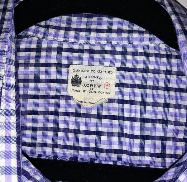 Dr. Ken Black & Purple Check J.Crew Shirt (Sz S)-2