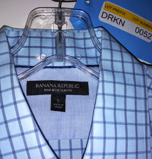 Screenbid Media Company, LLC. - Dr. Ken's White & Blue Shirt by Banana Republic (Sz S)