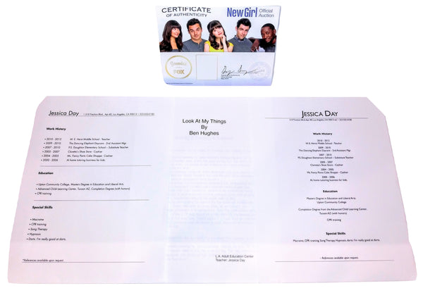 NEW GIRL: Jessica Day's Resume-1