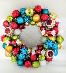 Dr. Ken: Dr. Ken Christmas Wreath made with Ornaments & Tinsel