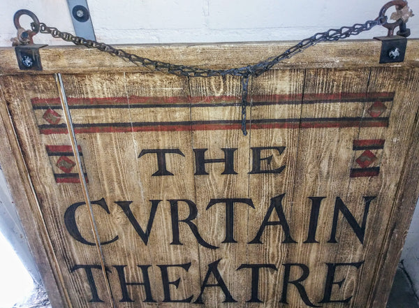 Shakespeare In Love: The Cvrtain Theatre Wood Sign-2