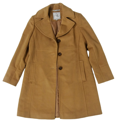 VEEP: Reporter Deb's Brown Coat By Larry Levine-1