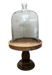 VEEP: The White House Glass Cloche With Wood Pedestal