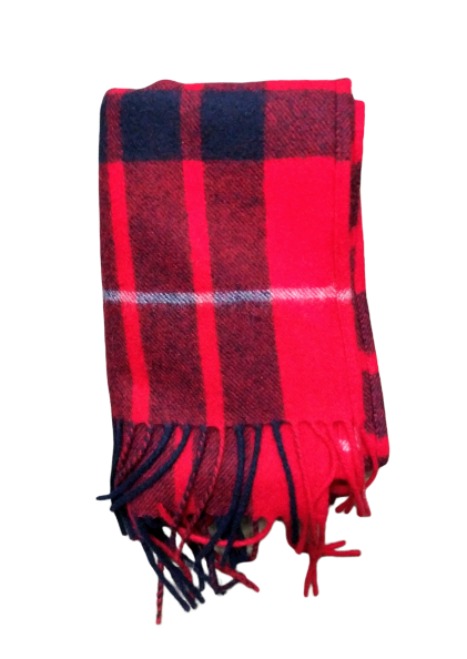VEEP: Classic Cashmere Black and Red Scarf-1
