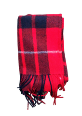 VEEP: Classic Cashmere Black and Red Scarf