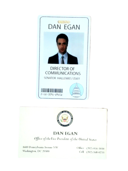 VEEP: Dan Egan Badge & Business Card-1
