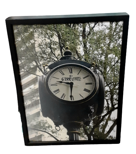VEEP: Selina's Skybox Framed Charlotte Clock Picture-1