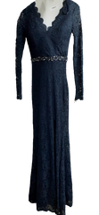 VEEP:  Selina's Navy Blue Beaded Long Sleeve Dress