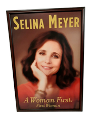 "VEEP: Selina Meyer's ""A Woman First: First Woman"" Framed Book Picture"