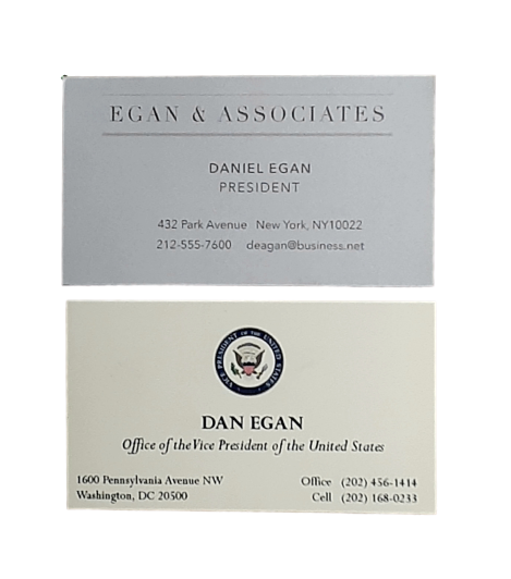Screenbid Media Company, LLC. - VEEP: Dan Egan Business Cards