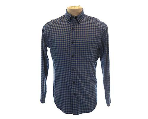 Dr. Ken's Blue/Grey Box Checkered Dress Shirt
