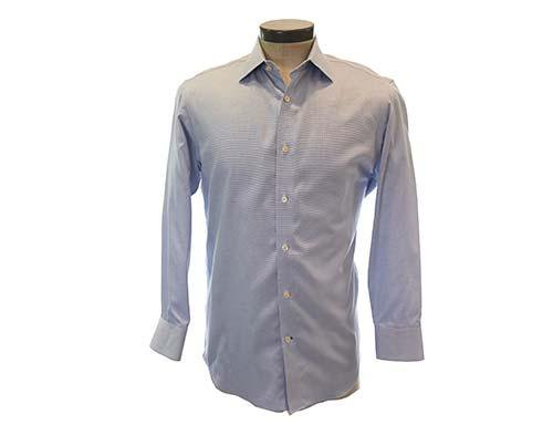 Dr. Ken: Dr. Ken's Pin Dot Blue Dress Shirt-1